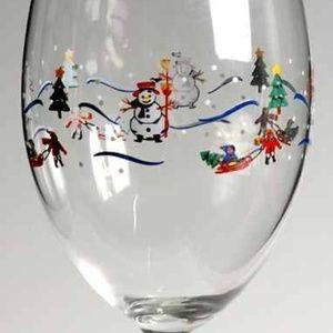 Pfaltzgraff Christmas Village Wine Glasses